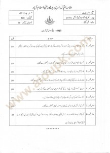 Home Management and Furnishing code 345 past paper of aiou