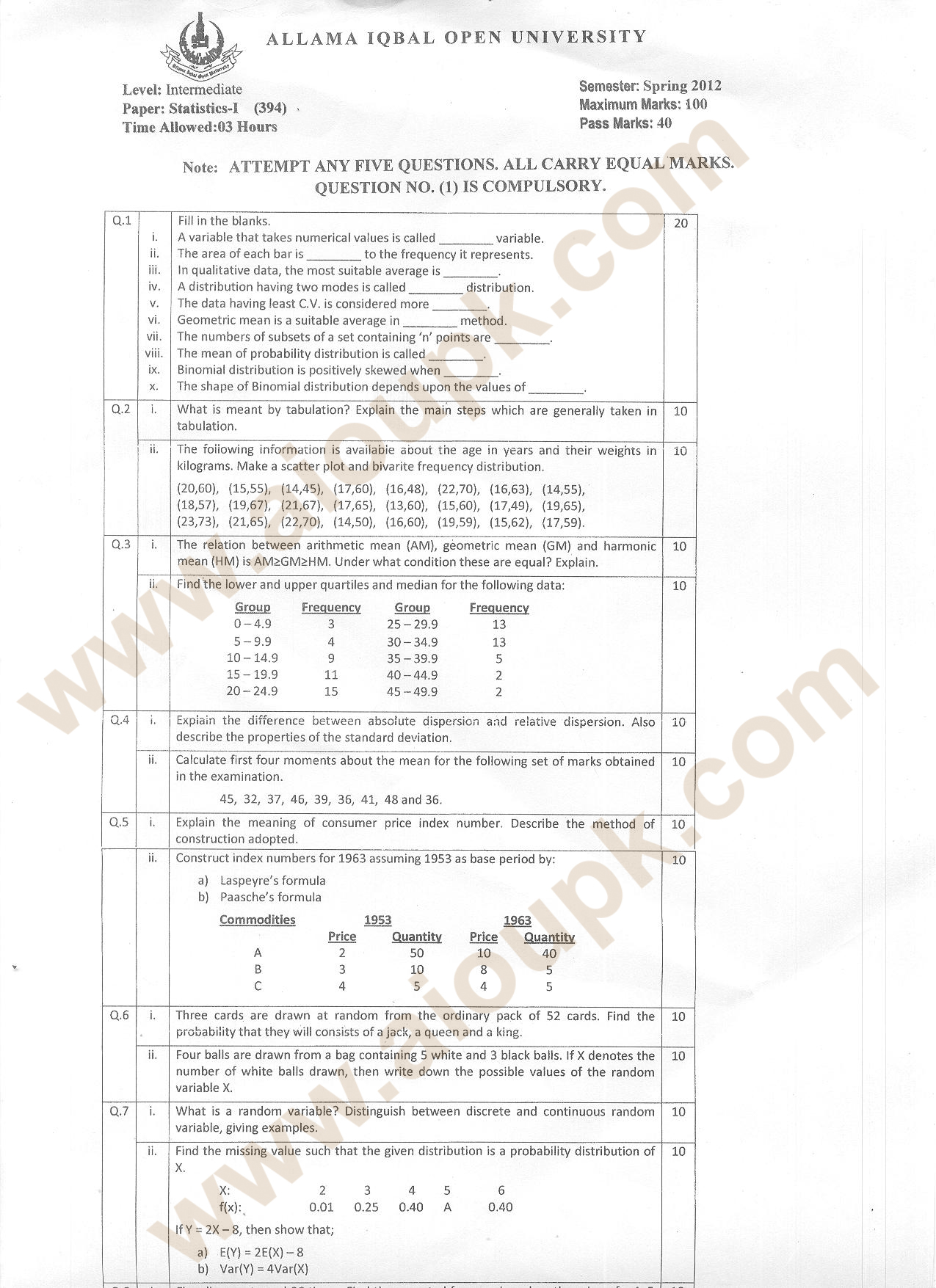 old intermediate papers Boards of intermediate and secondary education (bise) are government bodies responsible for conducting the examinations of secondary and higher secondary levels.