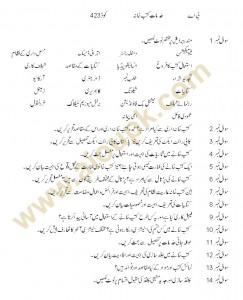 AIOU Guess papers BA Code 423 2013
