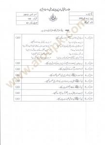 Seerat-e-Tayyaba AIOu Old Paper 2012 Autumn BA