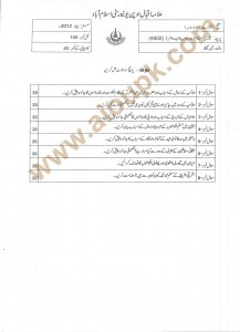 History of Islam past papers for postgraduate level