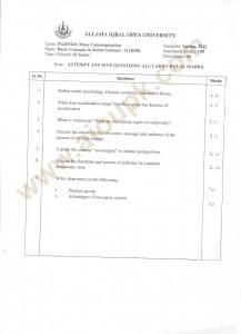 AIOU Old Papers 2013