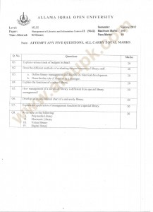 Management of Librarian and informationcenters II