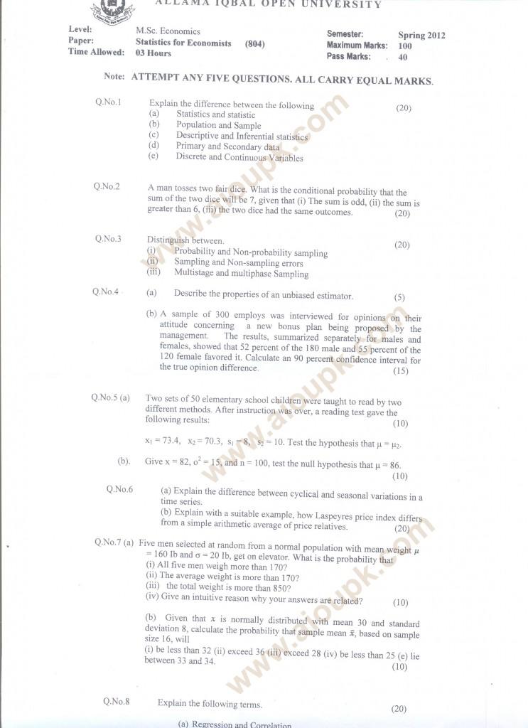 Buy a graduate statistics paper