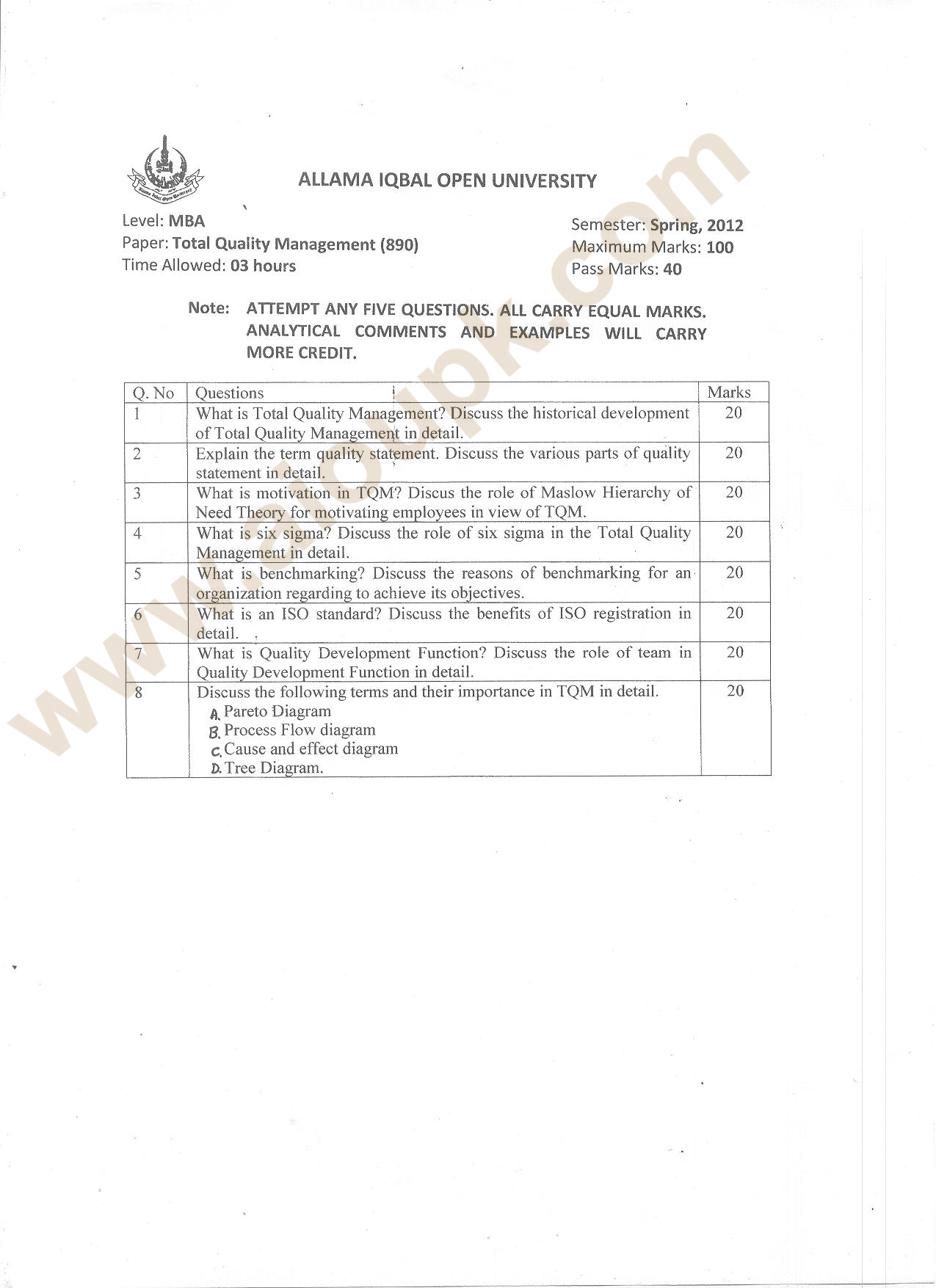 total quality management anna university question papers 2013 Anna university question paper for cse 2010 and 2013 regulation for anna university chennai total quality management - ge2022.