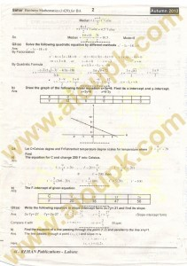 Business Mathematics Code 1429 Solved Assignment Part 2