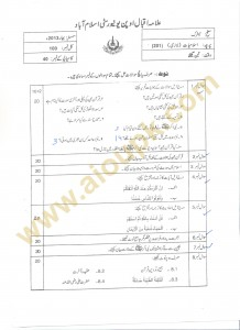 course Islamiat Code 201 Guess Paper