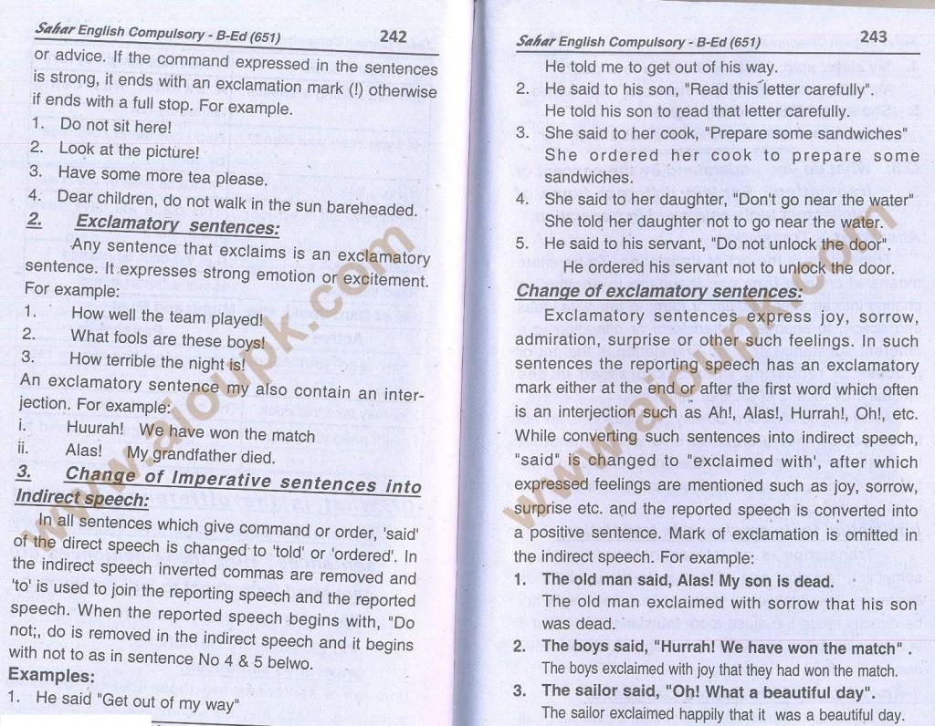 14-English B.Ed-Code 651 AIOU Solved Assignment- Autumn 2013