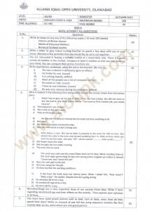 English -II BA old paper Code 1424