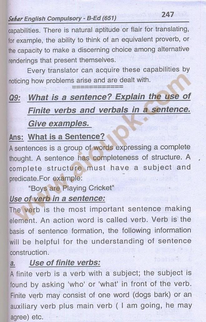 16-English B.Ed-Code 651 AIOU Solved Assignment- Autumn 2013