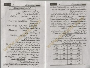 AIOu Arabic matric solved asignment and old paper 2014 code 205