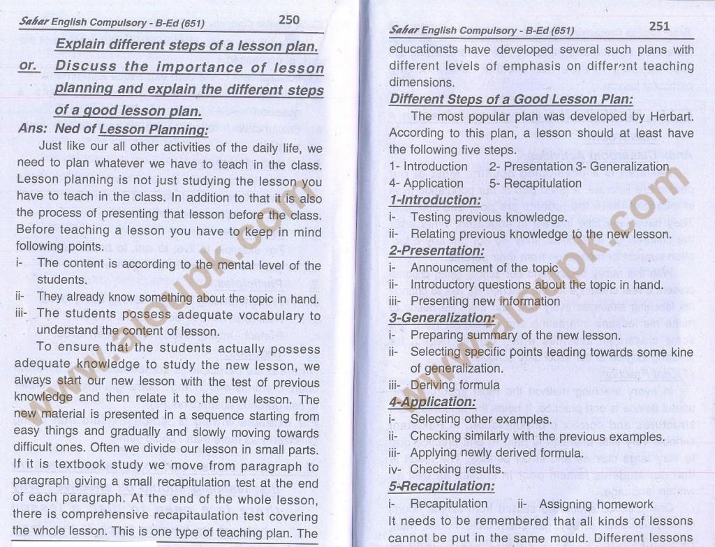 21-English B.Ed-Code 651 AIOU Solved Assignment- Autumn 2013