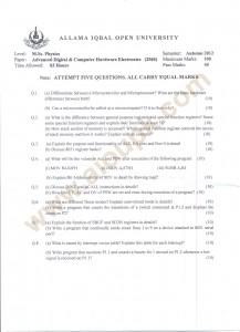 Advanced Digital & Computer Hardware Electronics Code 2560