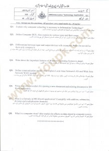 Information Technology Applications ICT Code 360 AIOU Old Papers