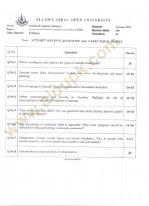 Introduction and Assessment of Mentally Retarded Children-II code 3604