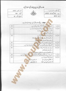 AIOU Old Paper Code 4622 Textual Study of Hadith 2014