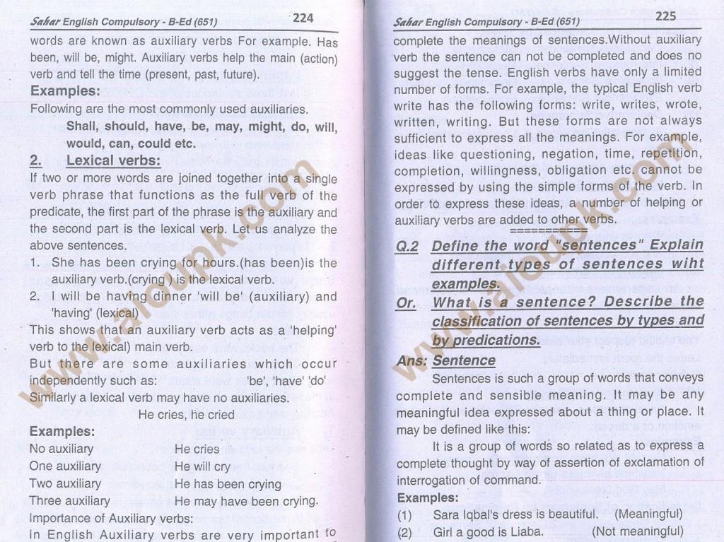 7-English B.Ed-Code 651 AIOU Solved Assignment- Autumn 2013