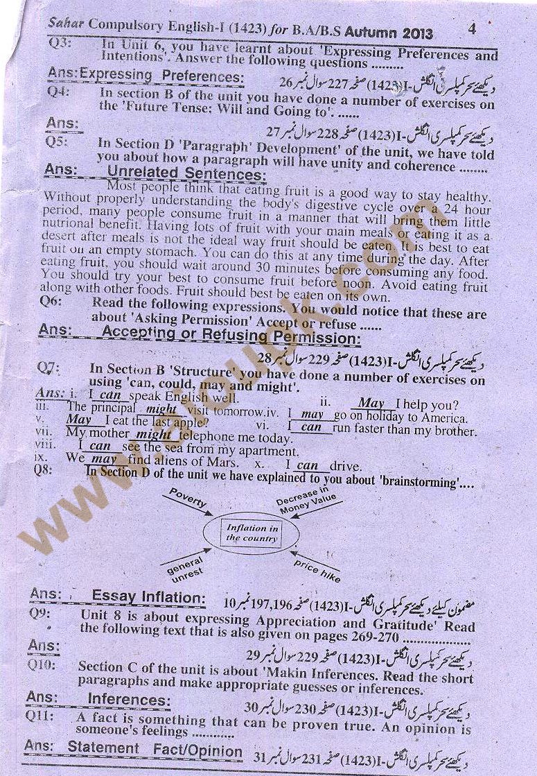 aiou solved assignment english code 1423 ba autumn 2013 1423 solved assignments solved