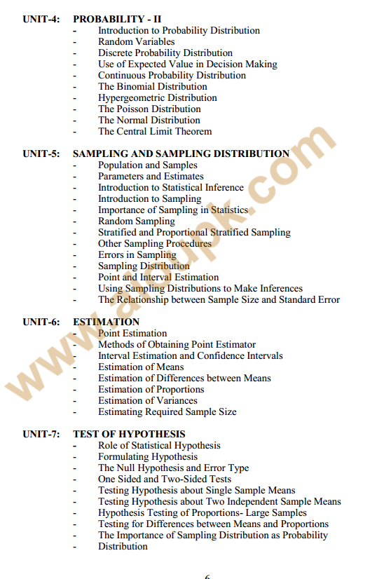 133 - Business Stats Course outlines 2