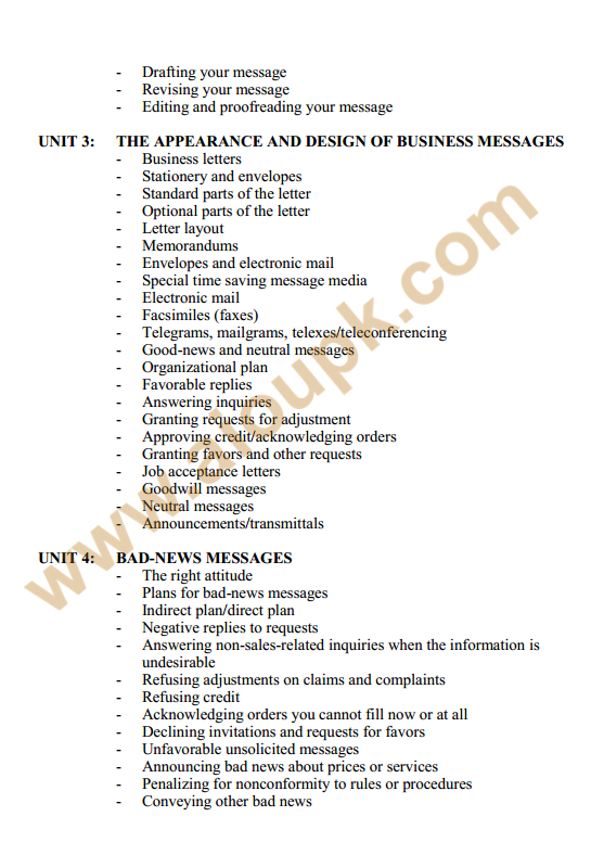 136 - Business Communication Course Outlines 2