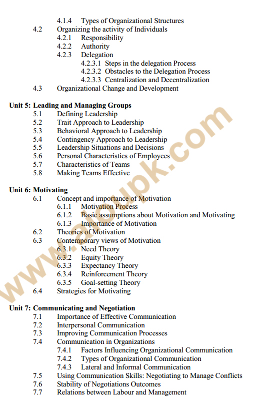 137 - Management Theory and Practice Course Outline 2