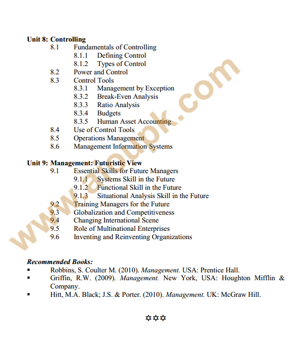 137 - Management Theory and Practice Course Outline 3
