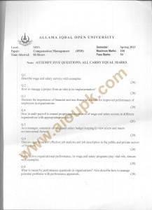 Code 8520 AIOU Old Paper Compensation Management