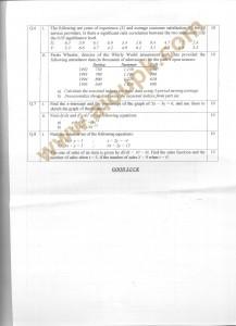 Code 8532 a AIOU Old Paper Business Mathematics & Statistics Side B