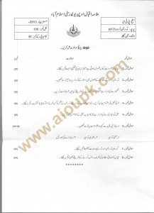 Code 617 Teaching of Urdu AIOU Old Paper