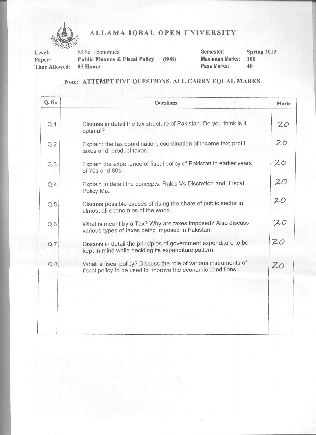 fiscal policy paper essay There are two kinds of policies that can be used in a macroeconomic view, the monetary policy that is implemented by the central bank and fiscal policy that is implemented by the government one of the most important debates of all times in macroeconomics is about the effectiveness of monetary.