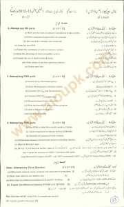 Computer Science Pattern Guess paper BISE matric