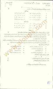 Urdu Guess paper for Matric BISE