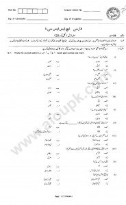 Persian Past Paper of FBISE 2014 for 1st year