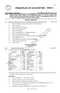 Principles of Accounting Model Guess paper Pattern paper 2014 FBISE