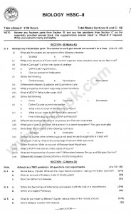 Biology Pre medical 2014 past papers Biology Federal board FBISE