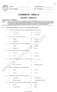 Chemistry Past Papers 2nd Year part 2 FBISE 2014