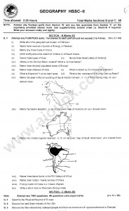 Geography 2nd year Model guess paper of federal board 2014