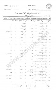Past papers of Health and Physical Education 2nd year federal board 2014
