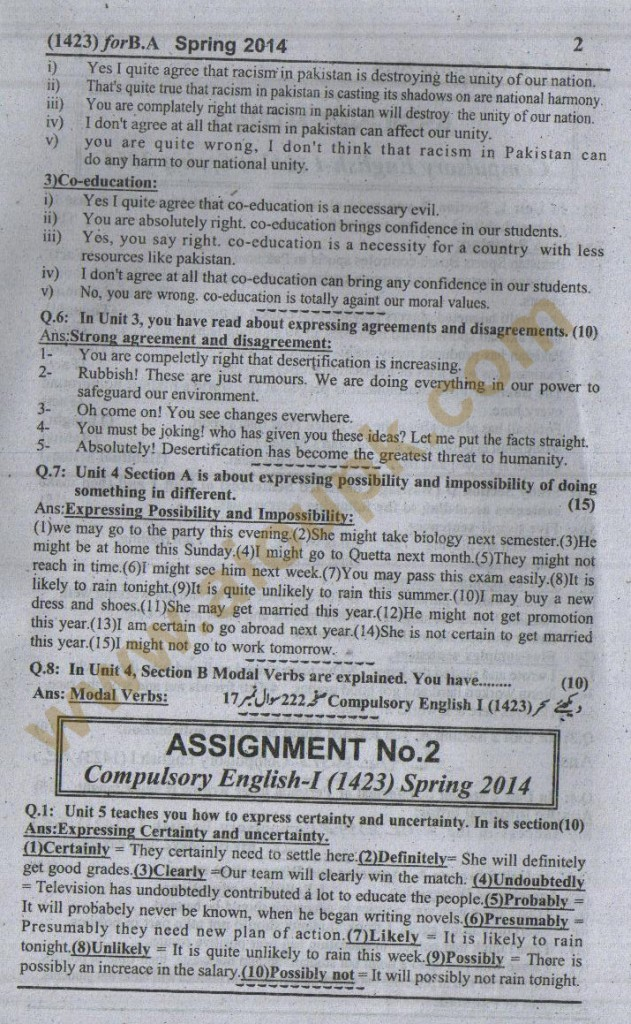 IGNOU Assignments 2018
