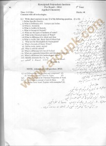 Applied Chemistry 132 DAE Papers 2014