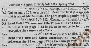 Solved Assignment 2014 of English-II code 1424