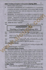 AIOu 2nd solved assignment of AIOU Code 519 - Spring 2014 answers