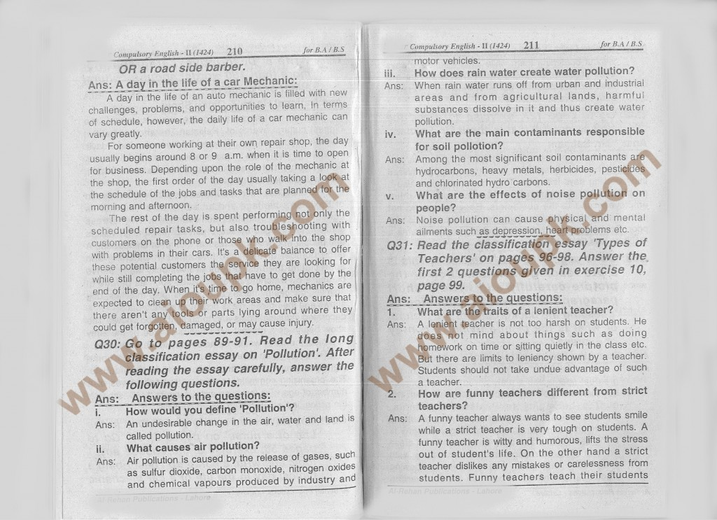 AIOu Solved Assignment Spring 2014 Compulsory English-II
