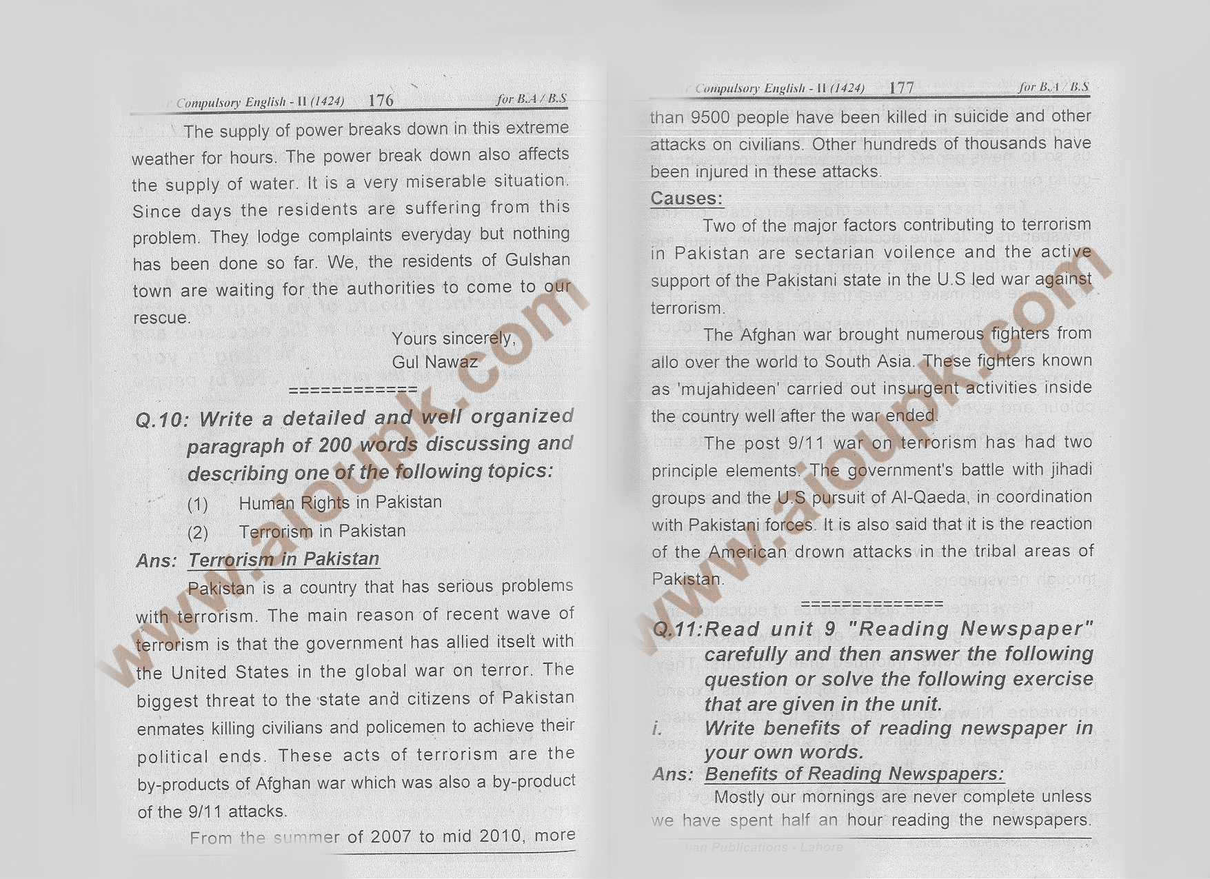 Compulsory English-II Code 1424 – AIOU 2nd Solve Assignment