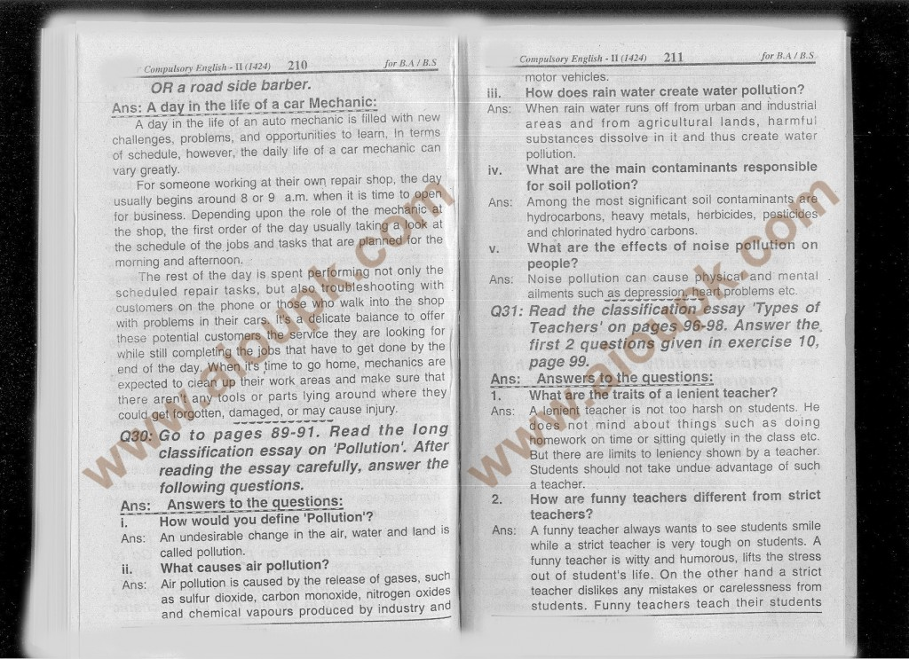 Allama Iqbal Open University Solved Assignments English-II Code 1424 Spring 2014