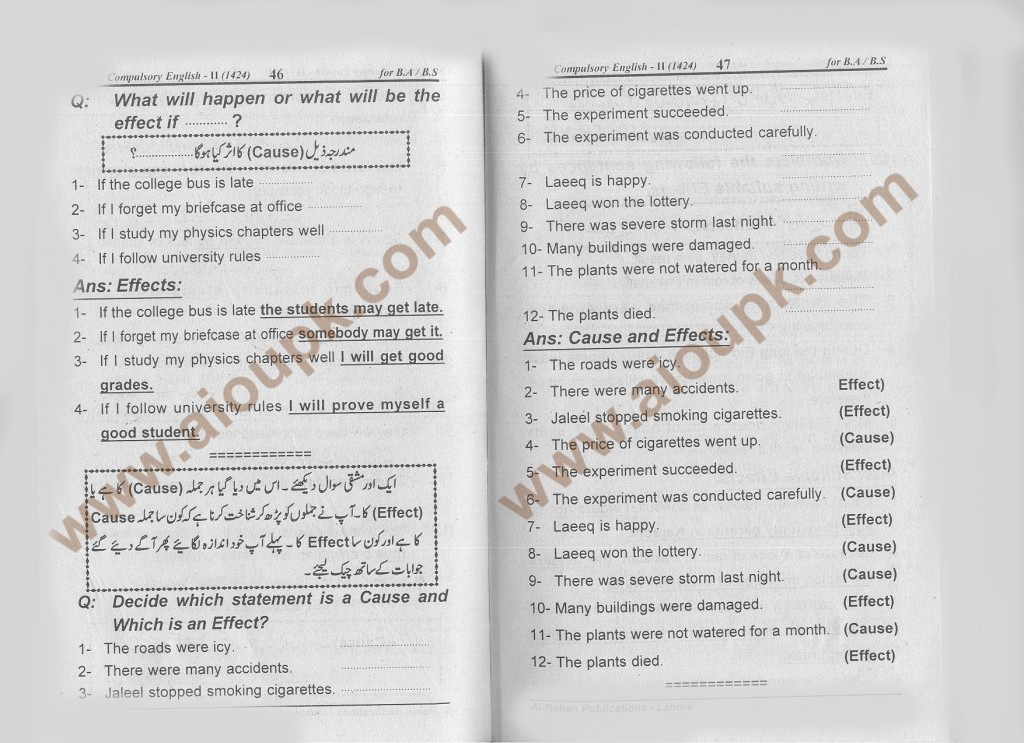 q8a-47-Answers of Assignment English-II Code 1424 for Spring 2014