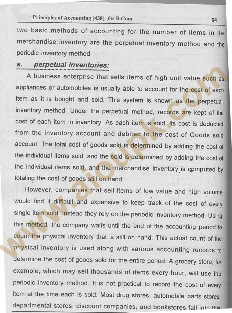 Principles of accounting BA / B.Com code 438