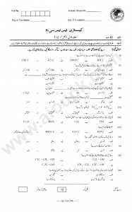 Chemistry Five Years Past Papers SSC II FBISE