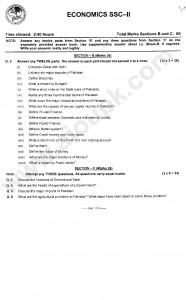 sample paper of Economics 2014 for class 10th
