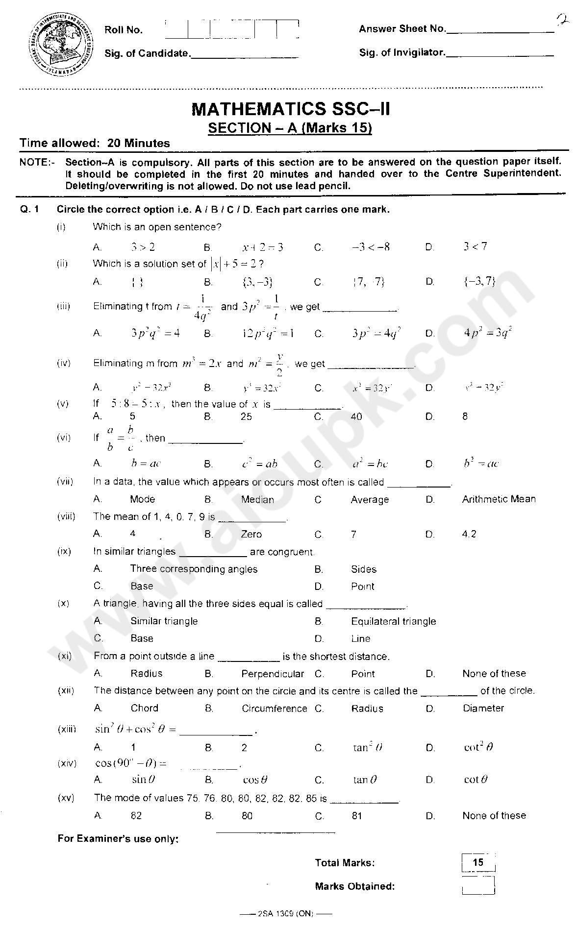intermediate 2 maths past paper solutions Intermediate 2 - units 1, 2 and 3 paper 2 finalised marking instructions these principles describe the approach to be taken when marking intermediate 2 mathematics papers 4 solutions which seem unlikely to include anything of relevance must nevertheless be followed.